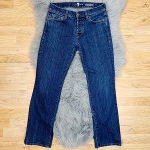 7FAM Standard Button Fly Straight Leg Jeans